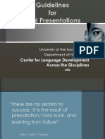Guidelines for Oral Presentations