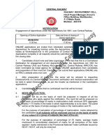 Central Railway Recruitment Notif 2018 19