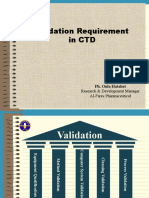 Validation Req. in CTD & Process