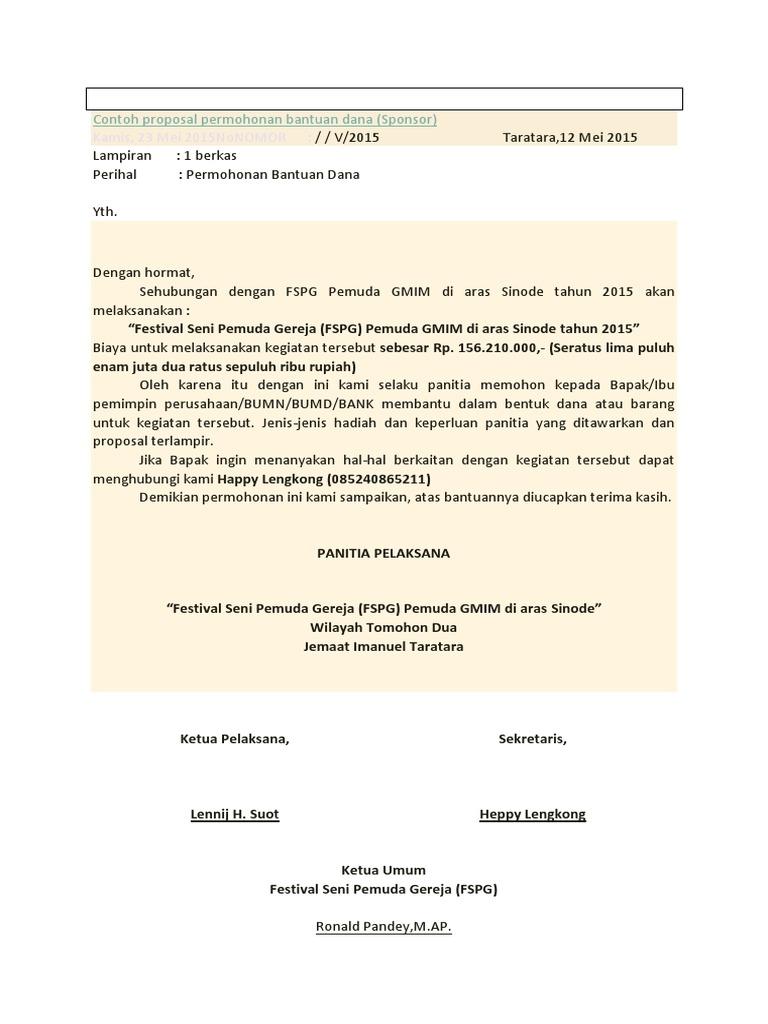 Contoh Proposal Sponsorship Lomba - Contoh Makalah Terbaru ...