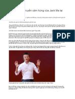Bài Phát Biểu Truyền Cảm Hứng Của Jack Ma Tại Việt Nam