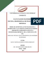 Perfil de Gestión de Las Tecnologías de La Información y Las Comunicaciones en El Dominio Adquisición e Implementación en La Municipalidad Distrital de La Unión en El Año 2012.