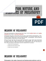 Definition, Nature, And Branches of Philosophy