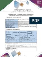 Guía de Actividades y Rúbrica de Evaluación - Actividad 4 - Diseñar Actividades de Estimulación Del Lenguaje Para Un Grupo de Niños (1)