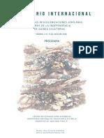 Programa Definitivo Revistiando Las Descolonizaciones Africanas