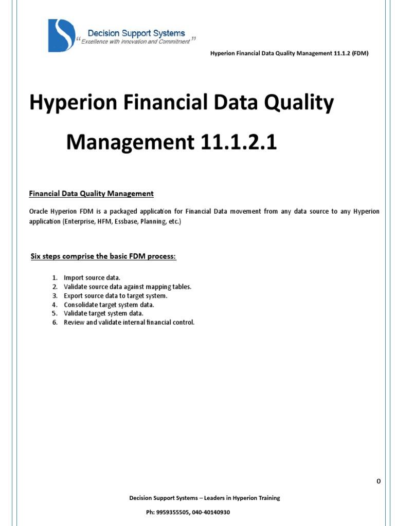 FDQM_Lab_Mat doc | Data Quality | Oracle Database