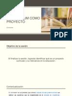 Currículum Como Proyecto Alumnos