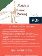 Module 8 Lesson Plan