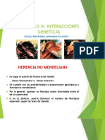 Capitulo IV. Interacciones Geneticas