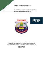 Kerangka Acuan Kerja Penyusunan Masterplan Kawasan Perkantoran Kabupaten Manokwari Selatan