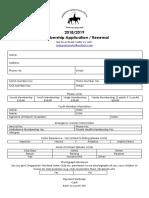 SWHC - Membership Application Form