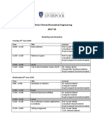 Modelling & Simulation Timetable