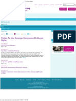 2007 May 11 SFV Petition to Inter American Commission on Human Rights
