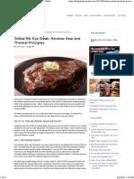 Grilled Rib Eye Steak Recipe, Reverse Sear _ ThermoWorks