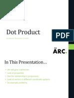 Dot Product Workshop