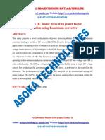 Brushless DC motor drive with power factor regulation using Landsman converter
