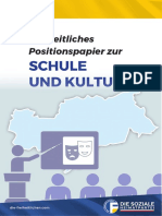 Freiheitliches Positionspapier zu Schule & Kultur