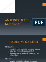ANALISIS REGRESI & KORELASI