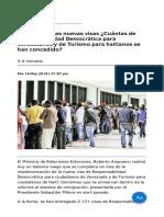 A Un Mes de Las Nuevas Visas ¿Cuántas de Responsabilidad Democrática Para Venezolanos y de Turismo Para Haitianos Se Han Concedido