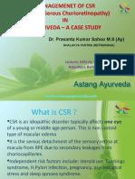 CSR Eye Ayurvedic Treatment and Management