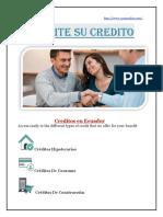Créditos Hipotecarios | Créditos De Consumo | Créditos De Construcción
