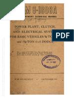TM 9 1808 A - Dodge Power Train, Clutch & Electrical for 4x4 through 6x6s - 1943