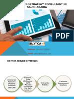 Bilytica's Microstrategy Consultant in Saudi Arabia Pptx