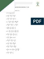 Revisão de Matemática 7