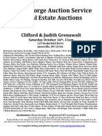 Clifford & Judith Grenawalt Auction