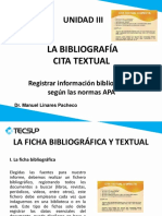 La Bibliografía Cita Textual