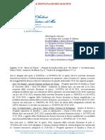 BUSSI - PIANO D'ORTA. DIFFIDA MINISTERO A REGIONE ABRUZZO Prot.12831.STA Piano Dorta