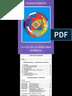 Franz Bardon La Cle de La Veritable Kabbale PDF