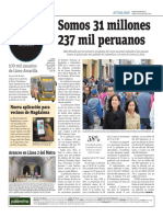Somos 31 Millones 237 Mil Peruanos