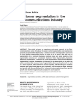 Segmentation for Telecoms
