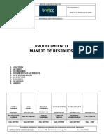 PR-RH-015 Manejo de Residuos en Obra