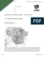 Lithuanian Language Linguistics