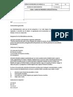 Evaluación Curso Primeros Auxilios Trabajadores