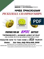 Clark Summer Smackdown Flyer