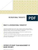 presentation-recreational therapist