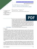El Incidente de Arreglo de Partidos 2009 en Liga Profesional de Beisbol de Taiwan