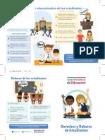 Diptico Derechos Educacionales de Estudiantes 2017