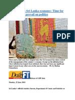 Crisis-ridden Sri Lanka economy  Time for economics to prevail on politics.docx