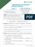Com2p u4 Ficha Ortografia Los Signos de Interrogacion y Exclamacion Palabras Esdrujulas