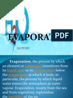 Evaporation transpiration