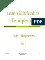Aula 18- Circuitos Multiplexadores e Demultiplexadores (1)