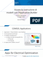 COMSOL Day 2018 Brescia Application Builder