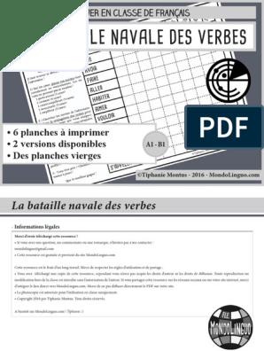 La Bataille Navale Des Verbes Jouer En Classe De Français