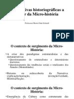 Perspectivas Historiográficas a Partir Da Micro-história