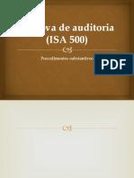 A Prova de Auditoria (ISA 500)