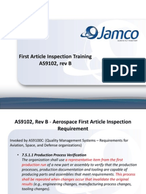 Powerpoint Presentation Fai As9102 Verification And